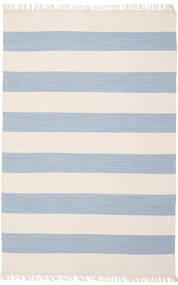 Cotton Stripe - Lys Blå Teppe 140X200 Ekte Moderne Håndvevd Beige/Lys Blå (Bomull, India)
