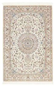 Nain 6La Teppe 100X156 Ekte Orientalsk Håndknyttet Lys Grå/Beige (Ull/Silke, Persia/Iran)