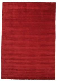 Handloom Fringes - Mørk Rød Teppe 250X350 Moderne Rød Stort (Ull, India)