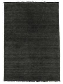 Handloom Fringes - Svart/Grå Teppe 160X230 Moderne Svart/Mørk Grå (Ull, India)