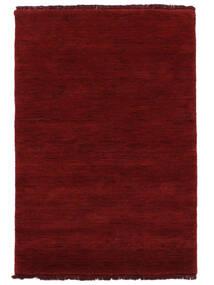 Handloom Fringes - Mørk Rød Teppe 140X200 Moderne Rød (Ull, India)