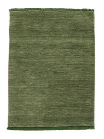 Handloom Fringes - Grønn Teppe 140X200 Moderne Olivengrønn/Mørk Grønn (Ull, India)