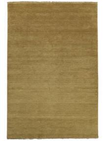 Handloom Fringes - Olivengrønn Teppe 300X400 Moderne Olivengrønn/Brun Stort (Ull, India)