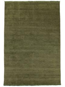 Handloom Fringes - Grønn Teppe 300X400 Moderne Olivengrønn Stort (Ull, India)