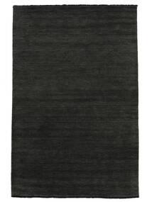 Handloom Fringes - Svart/Grå Teppe 300X400 Moderne Mørk Grå Stort (Ull, India)