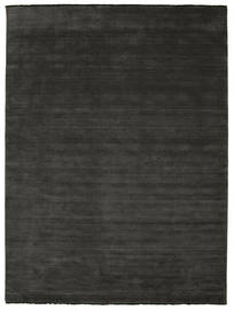 Handloom Fringes - Svart/Grå Teppe 250X350 Moderne Mørk Grå Stort (Ull, India)