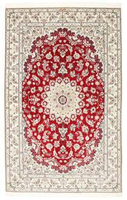 Nain 6La Habibian Teppe 150X230 Ekte Orientalsk Håndknyttet Lys Grå/Beige (Ull/Silke, Persia/Iran)