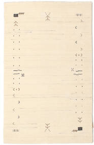 Gabbeh Loom Frame - Off White Teppe 100X160 Moderne Beige/Lyserosa (Ull, India)