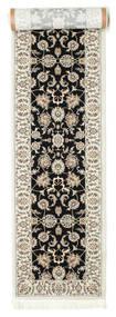 Nain Neizar Teppe 80X400 Orientalsk Teppeløpere Lys Grå/Svart ( Tyrkia)