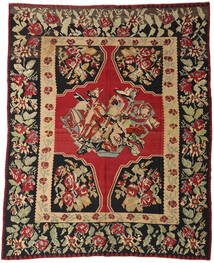 Kelim Halvt Antikke Teppe 287X355 Ekte Orientalsk Håndvevd Mørk Rød/Svart Stort (Ull, Slovenia)