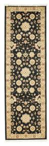 Farahan Ziegler - Svart Teppe 80X250 Orientalsk Teppeløpere Svart/Mørk Beige ( Tyrkia)