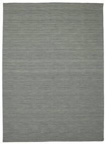 Kelim Loom - Mørk Grå Teppe 250X350 Ekte Moderne Håndvevd Lys Grå/Mørk Grønn Stort (Ull, India)