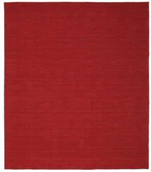 Kelim Loom - Mørk Rød Teppe 250X300 Ekte Moderne Håndvevd Rød Stort (Ull, India)