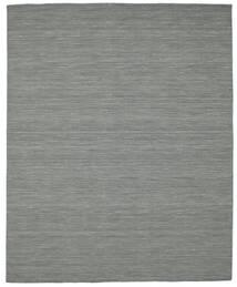 Kelim Loom - Mørk Grå Teppe 200X250 Ekte Moderne Håndvevd Mørk Grå/Lysgrønn (Ull, India)