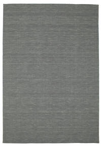 Kelim Loom - Mørk Grå Teppe 200X300 Ekte Moderne Håndvevd Mørk Grønn (Ull, India)