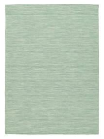 Kelim Loom - Mint Grønn Teppe 140X200 Ekte Moderne Håndvevd Pastell Grønn/Turkis Blå (Ull, India)