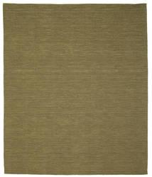 Kelim Loom - Oliven Teppe 250X300 Ekte Moderne Håndvevd Olivengrønn Stort (Ull, India)