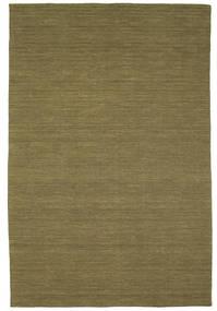 Kelim Loom - Oliven Teppe 200X300 Ekte Moderne Håndvevd Olivengrønn (Ull, India)