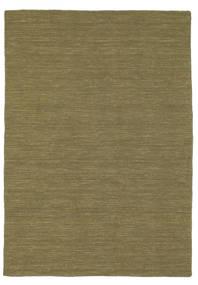 Kelim Loom - Oliven Teppe 140X200 Ekte Moderne Håndvevd Olivengrønn (Ull, India)