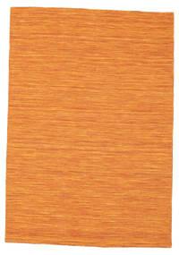 Kelim Loom - Oransje Teppe 140X200 Ekte Moderne Håndvevd Orange (Ull, India)