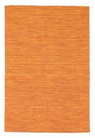 Kelim Loom - Oransje Teppe 120X180 Ekte Moderne Håndvevd Orange (Ull, India)