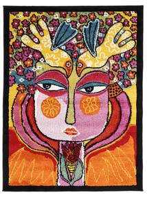 She Has Flowers In Her Hair Teppe 100X130 Moderne Orange/Svart ( Tyrkia)