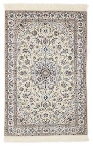 Nain 6La Teppe 103X153 Ekte Orientalsk Håndknyttet Lys Grå/Beige/Hvit/Creme (Ull/Silke, Persia/Iran)