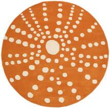 Sjöborre Handtufted - Oransje Teppe Ø 150 Moderne Rundt Lysbrun/Orange (Ull, India)