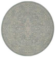 Ziegler Phoenix - Blå Teppe Ø 150 Orientalsk Rundt Lys Grå ( Tyrkia)