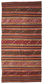 Kelim Halvt Antikke Tyrkiske Teppe 177X355 Ekte Orientalsk Håndvevd Mørk Rød/Mørk Brun (Ull, Tyrkia)