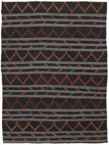 Kelim Halvt Antikke Tyrkiske Teppe 239X323 Ekte Orientalsk Håndvevd Svart/Mørk Grå (Ull, Tyrkia)