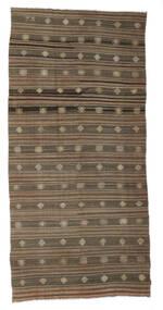 Kelim Halvt Antikke Tyrkiske Teppe 172X357 Ekte Orientalsk Håndvevd Brun/Lys Grå (Ull, Tyrkia)