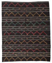 Kelim Halvt Antikke Tyrkiske Teppe 240X307 Ekte Orientalsk Håndvevd Svart/Mørk Grå (Ull, Tyrkia)
