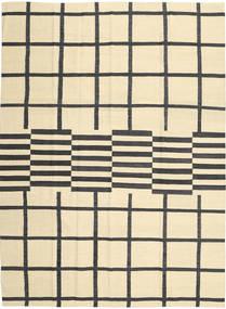 Kelim Moderne Teppe 210X285 Ekte Moderne Håndvevd Beige/Svart (Ull, Afghanistan)