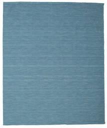 Kelim Loom - Blå Teppe 250X300 Ekte Moderne Håndvevd Turkis Blå/Blå Stort (Ull, India)