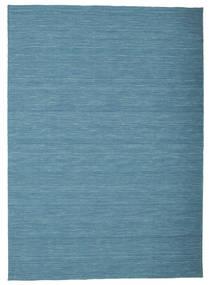 Kelim Loom - Blå Teppe 160X230 Ekte Moderne Håndvevd Turkis Blå/Blå (Ull, India)