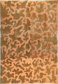 Colored Vintage Teppe 195X285 Ekte Moderne Håndknyttet Brun/Lysbrun (Ull, Persia/Iran)