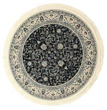 Nain Florentine - Mørk Blå Teppe Ø 150 Orientalsk Rundt Beige/Svart ( Tyrkia)