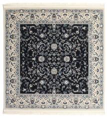 Nain Florentine - Mørk Blå Teppe 150X150 Orientalsk Kvadratisk Mørk Grå/Beige ( Tyrkia)