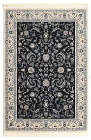 Nain Florentine - Mørk Blå Teppe 120X180 Orientalsk Lys Grå/Beige/Svart ( Tyrkia)