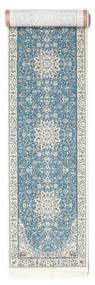 Nain Emilia - Lys Blå Teppe 80X400 Orientalsk Teppeløpere Lys Grå/Lys Blå ( Tyrkia)