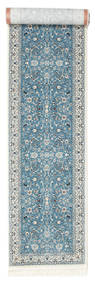 Nain Florentine - Lys Blå Teppe 80X400 Orientalsk Teppeløpere Lys Grå/Lys Blå ( Tyrkia)