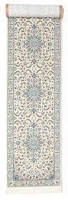 Nain Emilia - Cream/Lys Blå Teppe 80X300 Orientalsk Teppeløpere Lys Grå/Beige ( Tyrkia)