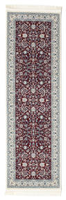 Nain Florentine - Mørk Rød Teppe 80X200 Orientalsk Teppeløpere Mørk Brun/Lys Grå ( Tyrkia)