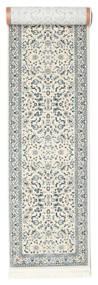 Nain Florentine - Cream Teppe 80X350 Orientalsk Teppeløpere Lys Grå/Beige/Lysgrønn ( Tyrkia)