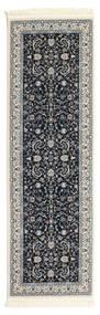 Nain Florentine - Mørk Blå Teppe 80X250 Orientalsk Teppeløpere Mørk Grå/Lys Grå ( Tyrkia)