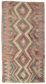 Kelim Halvt Antikke Tyrkiske Teppe 170X318 Ekte Orientalsk Håndvevd Lysbrun/Lys Grå (Ull, Tyrkia)