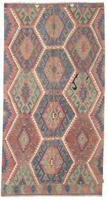 Kelim Halvt Antikke Tyrkiske Teppe 169X318 Ekte Orientalsk Håndvevd Mørk Rød/Rosa (Ull, Tyrkia)