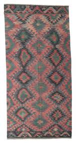 Kelim Halvt Antikke Tyrkiske Teppe 168X345 Ekte Orientalsk Håndvevd Mørk Grå/Mørk Brun (Ull, Tyrkia)