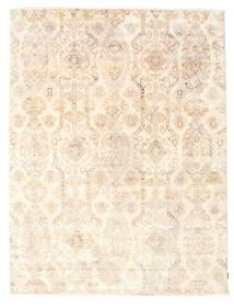 Himalaya Teppe 230X304 Ekte Moderne Håndknyttet Beige/Lyserosa (Ull/Bambus Silke, India)